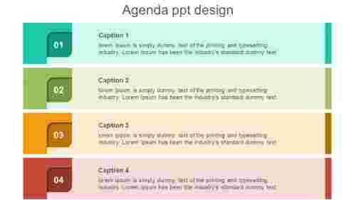 multicolor agenda PPT design