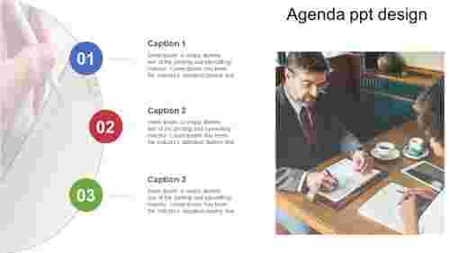 Curve model agenda PPT design