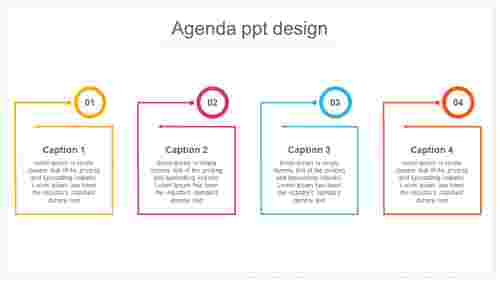 agenda ppt design for corporate company