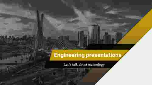 engineering powerpoint template abstract background