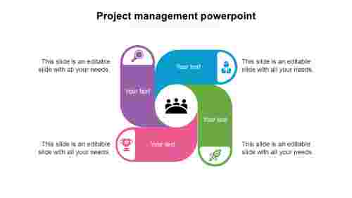 project management powerpoint presentation slides-project-managements-5-blue