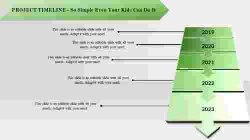 Arrow model Project Plan Timeline Powerpoint Template