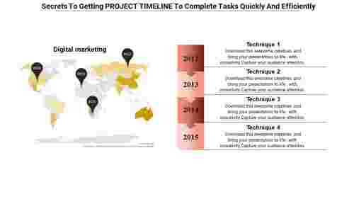 Spatial project timeline presentation ppt