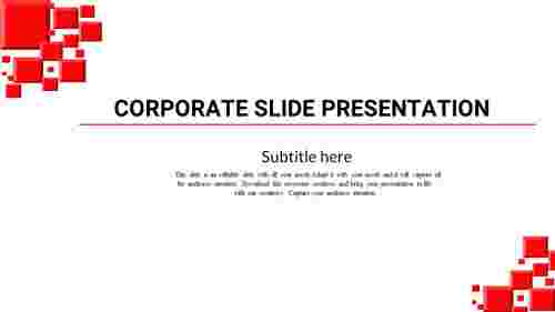 About corporate slide presentation