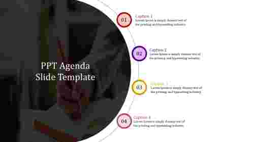 PPT agenda slide template-Semi circular model