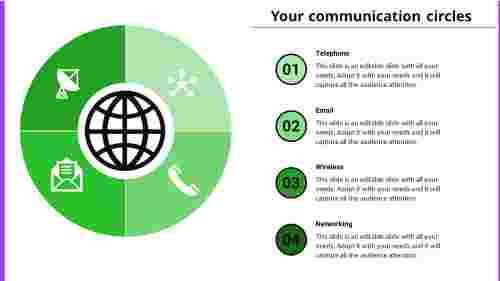 Communication PowerPoint Template - Agenda Model