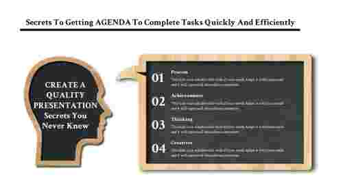 Educational agenda slide template Powerpoint