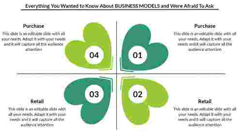 business model powerpoint template- Flower Model