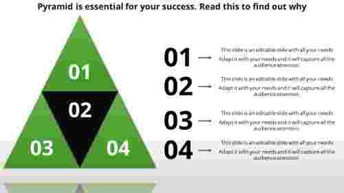 pyramid powerpoint template - unit development
