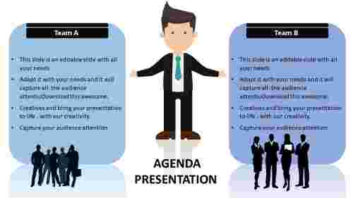 Team Powerpoint Agenda Slide Template