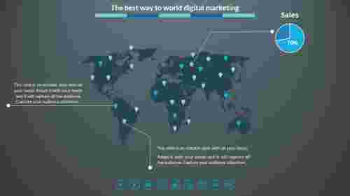 Digital%20Marketing%20Powerpoint%20Template%20With%20Map%20Model
