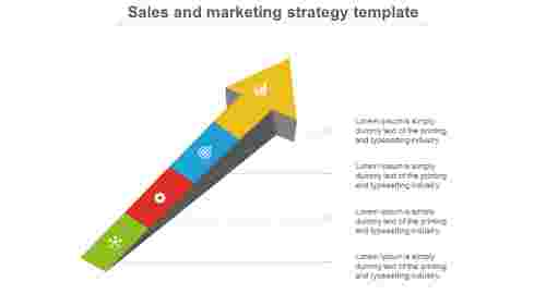 Arrow model  Sales And  Marketing Strategy Template Plan