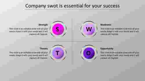 swot analysis powerpoint presentation download-company-swot-4-purple