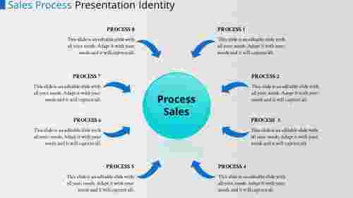 Creative template powerpoint process flow