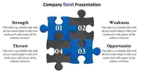 companypuzzlestemplateSWOTpowerpoint