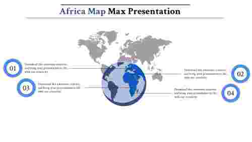 map presentation powerpoint-africa-maps-4-blue-style 1