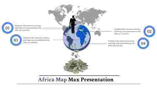 map presentation powerpoint-Africa-maps-4-blue-style 2
