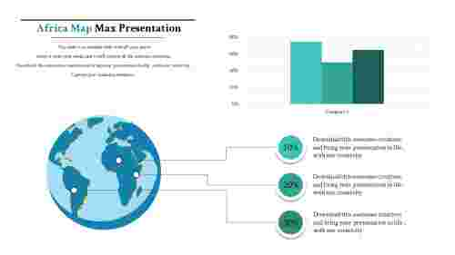 map presentation powerpoint-africa-maps-4-blue