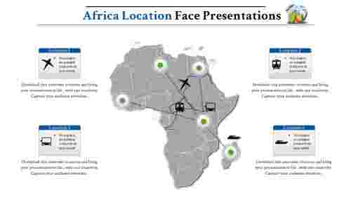 map presentation powerpoint-Africa-maps-4-blue-style 3
