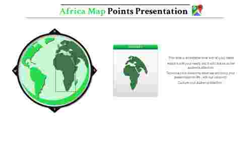 map presentation powerpoint-Africa-maps-4-green-style 4