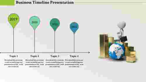 powerpoint timeline template - Growth oriented
