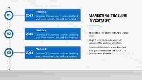Download Timeline Powerpoint Template for marketing