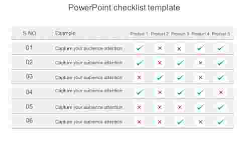 Creating PowerPoint checklist template