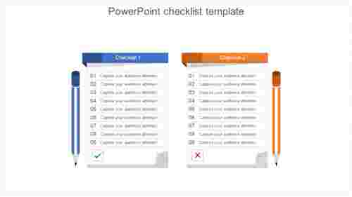 Product PowerPoint checklist template