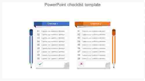 ProductPowerPointchecklisttemplate