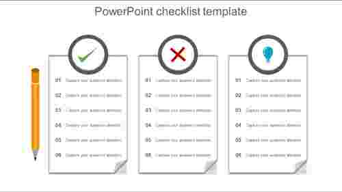 PowerPoint checklist template textbox model