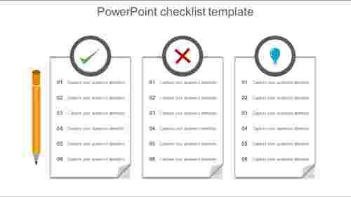 PowerPointchecklisttemplatetextboxmodel