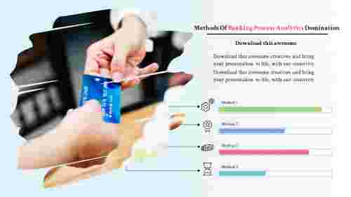 banking powerpoint templates-banking process analytics-4-multi color
