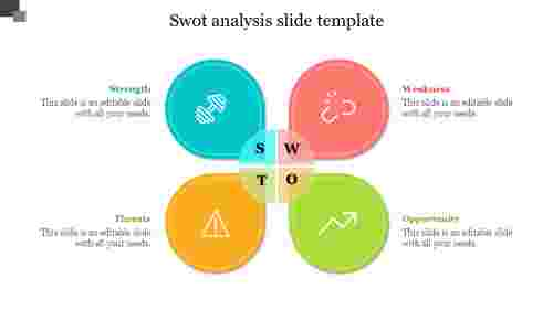 Petals SWOT Analysis Slide Template
