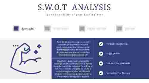 Strength For SWOT Analysis PowerPoint Presentation