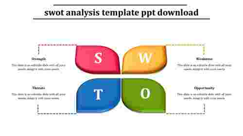 swot analysis template ppt download