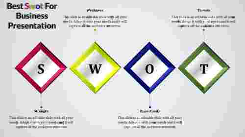 Template swot PowerPoint-Diamond model