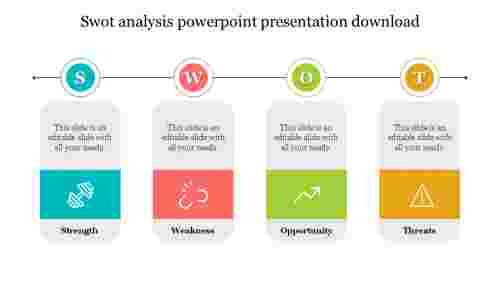 Creative SWOT analysis powerpoint presentation download