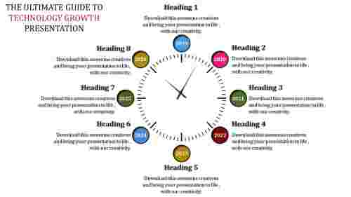 download timeline powerpoint template clock model