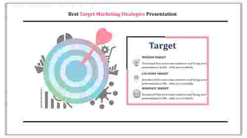 Target marketing strategies with clipart