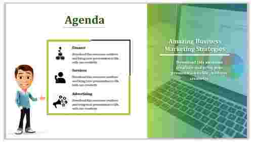 Business Powerpoint Agenda Slide Template