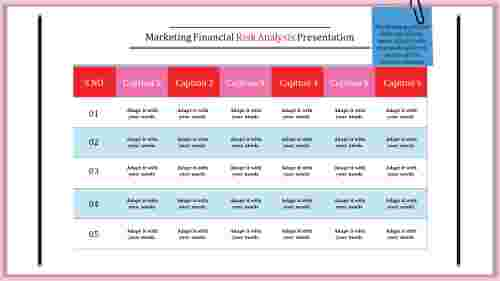Risk Management PPT Template-Table Model
