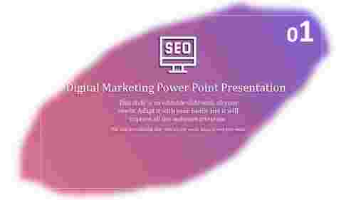 Abstract Digital Marketing PPT Download
