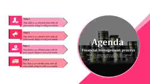 Finance powerpoint Agenda Slide Template