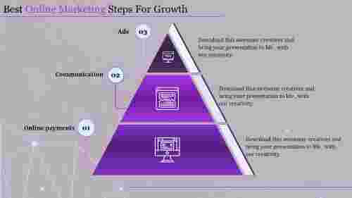 online marketing presentation-best online marketing steps-3-purple