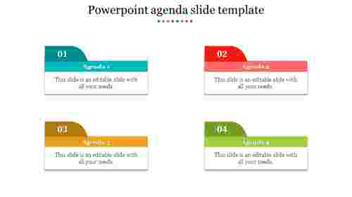 Visionary powerpoint agenda slide template