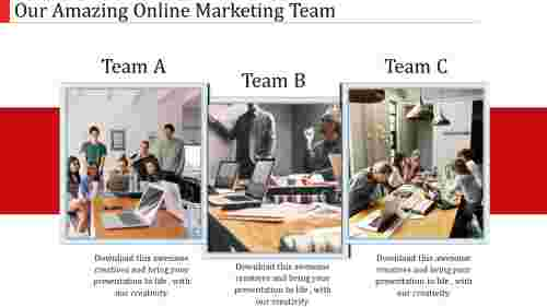 online marketing templates-our online marketing team-3-multi color
