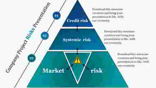 tiangle risk management powerpoint template-segmented