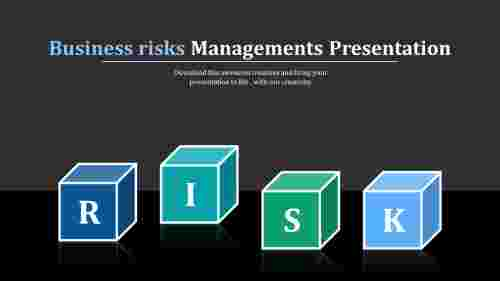 Risk powerpoint template-Cube shaped