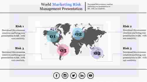 risk management powerpoint presentation-world map model