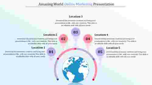 MapModelOnlineMarketingStrategyPPT